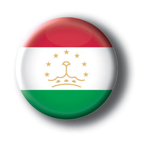 Tajikistan - Flags of The World Button/Magnet