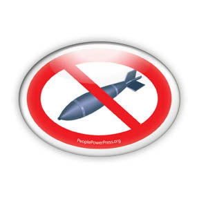 No Bombs - Peace Button/Magnet - Oval