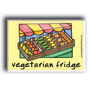 Vegetarian Fridge Button/Magnet - Markets