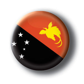 Papua New Guinea - Flags of The World Button/Magnet