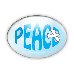 Dove of Peace Button/Magnet - Oval