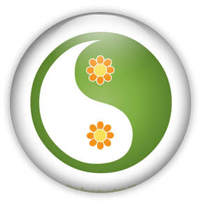 Flower Yin and Yang Button/Magnet