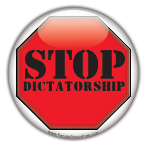 Stop Dictatorship - Protest Button/Magnet