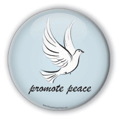 Promote Peace - Christmas Dove/Blue