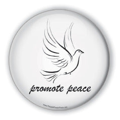 Promote Peace - Christmas Dove/White