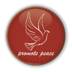 Promote Peace - Christmas Dove/Red