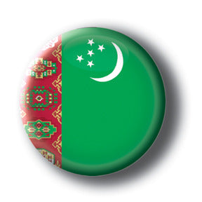 Turkmenistan - Flags of The World Button/Magnet