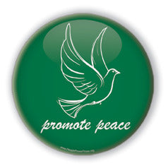 Promote Peace - Christmas Dove/Green