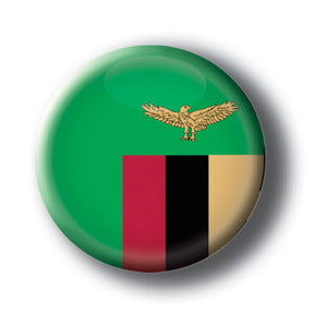 Zambia - Flags of The World Button/Magnet