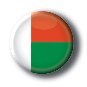 Madagascar - Flags of The World Button/Magnet