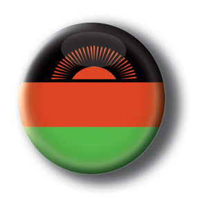 Malawi - Flags of The World Button/Magnet