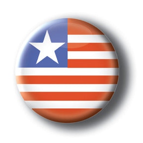 Liberia - Flags of The World Button/Magnet