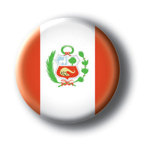 Peru - Flags of The World Button/Magnet