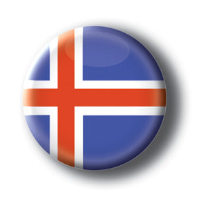 Iceland - Flags of The World Button/Magnet