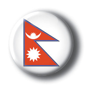 Nepal - Flags of The World Button/Magnet