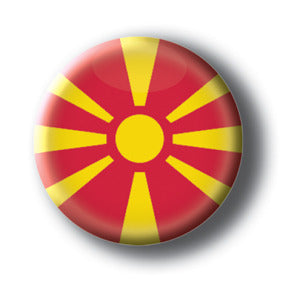 Macedonia - Flags of The World Button/Magnet