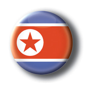 North Korea - Flags of The World Button/Magnet