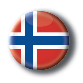 Norway - Flags of The World Button/Magnet