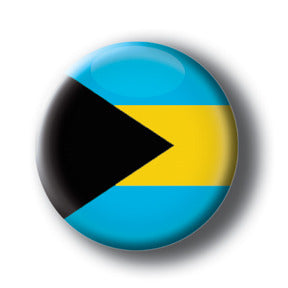 The Bahamas - Flags of The World Button/Magnet