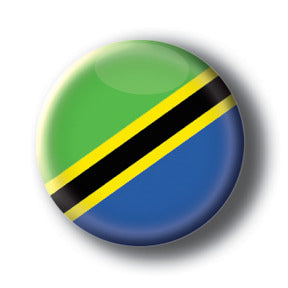 Tanzania - Flags of The World Button/Magnet