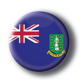 British Virgin Islands - Flags of The World Button/Magnet