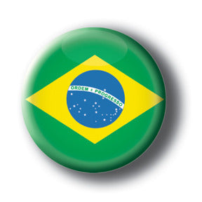 Brazil - Flags of The World Button/Magnet