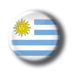 Uruguay - Flags of The World Button/Magnet