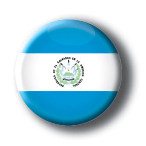 El Salvador - Flags of The World Button/Magnet