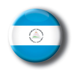 Nicaragua - Flags of The World Button/Magnet