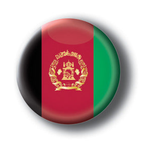 Afghanistan - Flags of The World Button/Magnet
