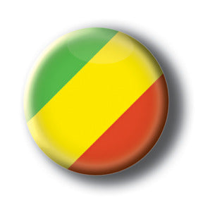Congo - Flags of The World Button/Magnet