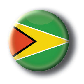 Guyana - Flags of The World Button/Magnet