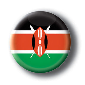 Kenya - Flags of The World Button/Magnet