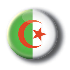 Algeria - Flags of The World Button/Magnet