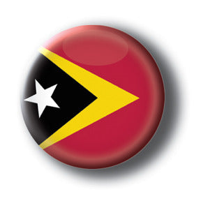 East Timor - Flags of The World Button/Magnet