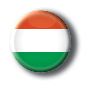 Hungary - Flags of The World Button/Magnet