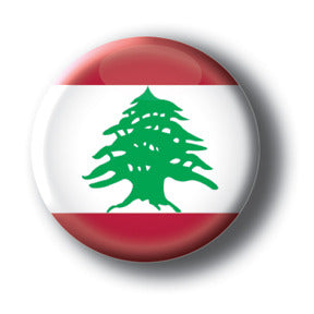 Lebanon - Flags of The World Button/Magnet