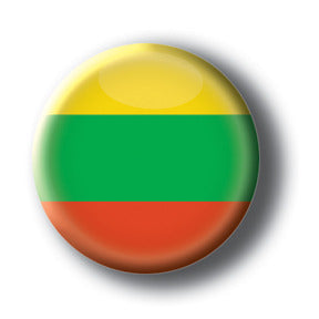 Lithuania - Flags of The World Button/Magnet