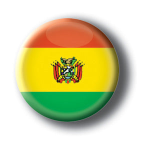 Bolivia - Flags of The World Button/Magnet