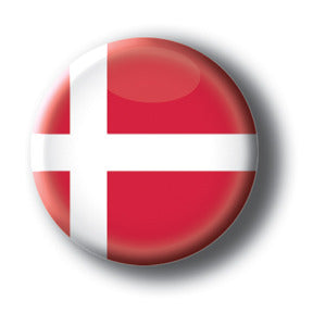 Denmark - Flags of The World Button/Magnet