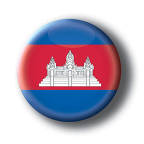 Cambodia - Flags of The World Button/Magnet