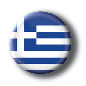 Greece - Flags of The World Button/Magnet