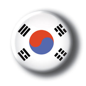 South Korea - Flags of The World Button/Magnet
