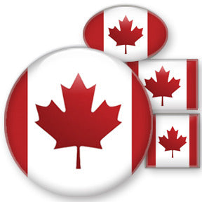 Canadian Flag custom button design