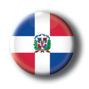 Dominican Republic - Flags of The World Button/Magnet