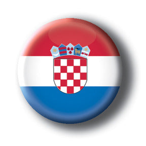 Croatia - Flags of The World Button/Magnet