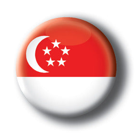 Singapore - Flags of The World Button/Magnet