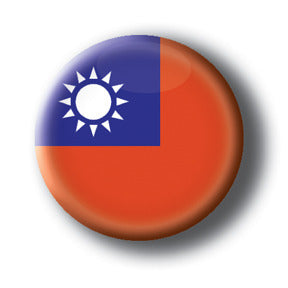 Taiwan - Flags of The World Button/Magnet