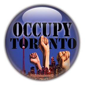 Occupy Toronto Custom Button Design
