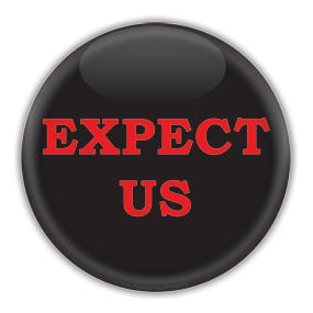 EXPECT US - Anonymous are the 99% - Button/Magnet
